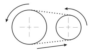 grafički  simbol lančastog prenosnika